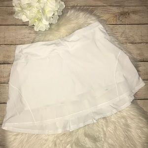 Lululemon White Circuit Breaker Skirt Tall